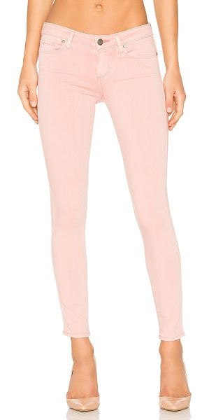 "PAIGE Verdugo Ankle in petal pink - ""54% rayon 23% cotton 22% poly 1% spandex. Front and..."