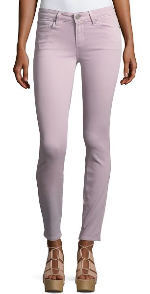 "PAIGE Verdugo Ankle Skinny Jeans in pink - Paige Denim ""Verdugo"" jeans in 10 oz. stretch-denim...."
