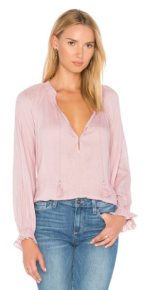 PAIGE Jordana Blouse in pink - 100% modal. Dry clean only. Shirred neckline. Neckline...