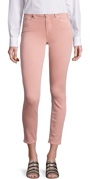 PAIGE verdugo ankle faded jeans in petal pink - Cool faded jeans modeled in a cropped silhouette. Belt...