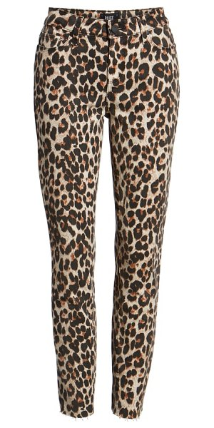 PAIGE verdugo ankle skinny jeans in brown - Make any outfit pop with leopard-print skinny jeans cut...