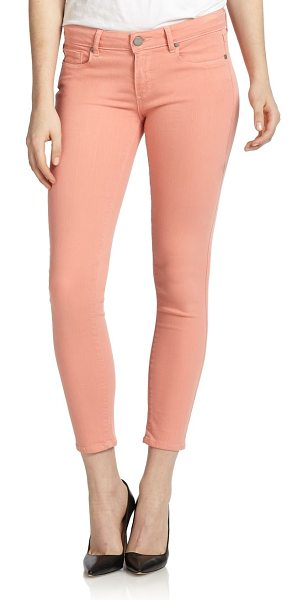 PAIGE Verdugo cropped skinny ankle jeans in desertsunset - Cast in a cheery pastel hue, this skinny-fit silhouette...
