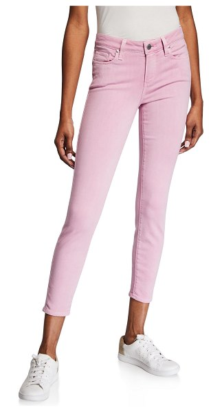 PAIGE Verdugo Mid-Rise Ankle Skinny Jeans in pink