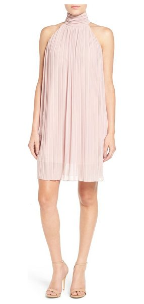 Painted Threads pleated shift dress in pink - This sleeveless shift with day-to-night versatility is...