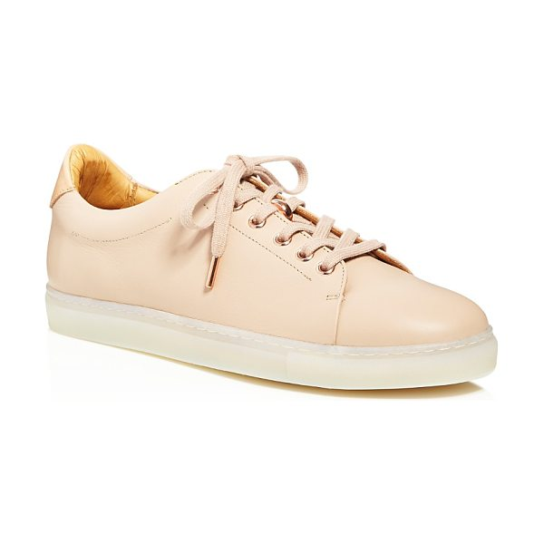 Pairs In Paris Pairs in Paris Saintonge Lace Up Low Top Sneakers - 100% Exclusive in nude/rose gold - Pairs in Paris Saintonge Lace Up Low Top Sneakers - 100%...