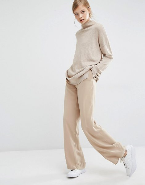 Paisie Wide Leg Pants With High Waist And Side Pockets in tan - Pants by Paisie, Woven fabric, High-rise waist, Zip fly,...