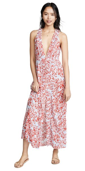 Paloma Blue bella cover up dress in blossom poppy
