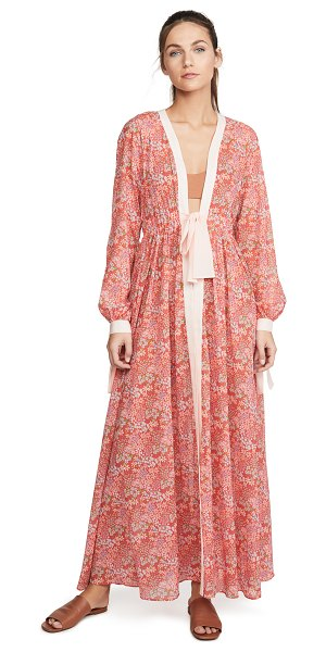 Paloma Blue jasmine cover up in bloom red