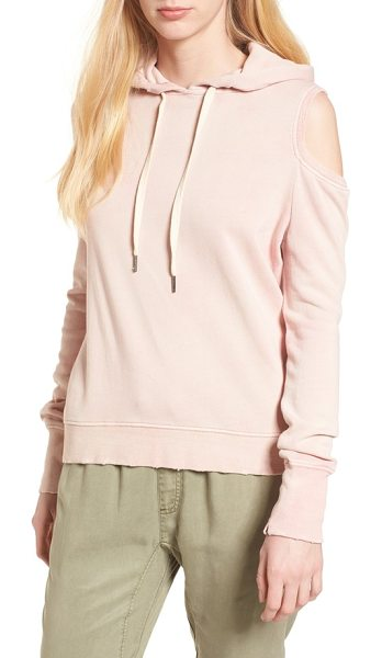 Pam & Gela cold shoulder hoodie in cotton candy - If you can't get enough of the cold-shoulder trend-and...