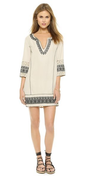 PAM & GELA Embroidered tunic dress - Tribal embroidery lends a bohemian touch to this relaxed...