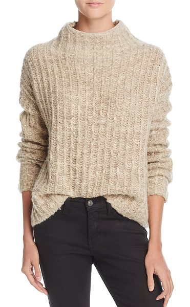 Pam & Gela Funnel-Neck Sweater in oatmeal - Pam & Gela Funnel-Neck Sweater-Women
