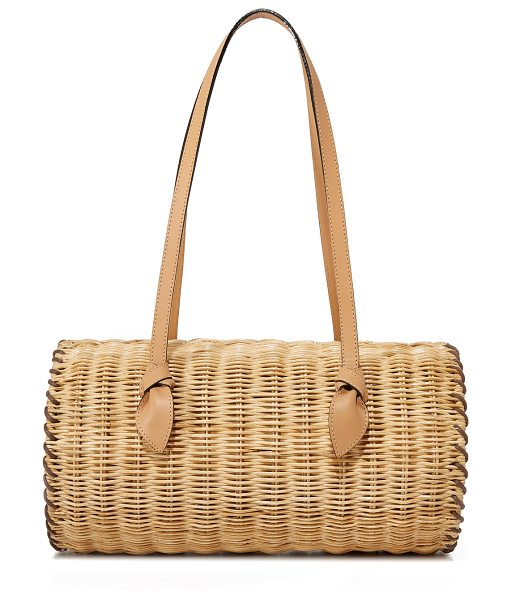 PAMELA MUNSON the agatha satchel - A hinged PAMELA MUNSON satchel in woven straw. The...