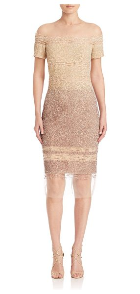 Pamella Roland signature sequin dress in bone ombre - EXCLUSIVELY AT SAKS FIFTH AVENUE. Sequin dress with...
