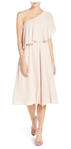 PAPER CROWN by lauren conrad 'ariana' one-shoulder tea length dress - Exuding timeless romance, a flowy chiffon dress features...
