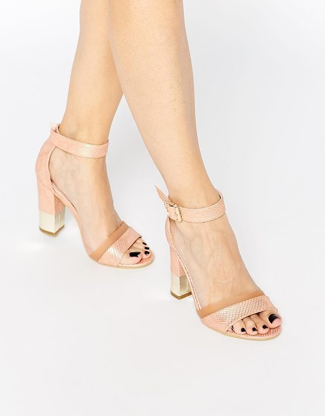Paper Dolls Block heeled sandals in nude