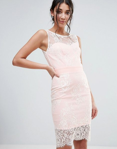 PAPER DOLLS Lace Overlay Dress - Dress by Paper Dolls, Lined lace, Round neck, Sleeveless...