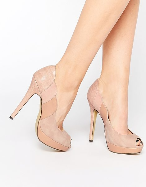 PAPER DOLLS Peep toe platform heeled shoes - Shoes by Paper Dolls Leather-look upper Muted color...