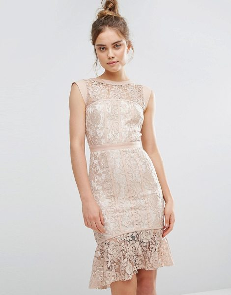 "PAPER DOLLS Peplum Hem Lace Dress - """"Lace dress by Paper Dolls, Sheer lace, Partially..."