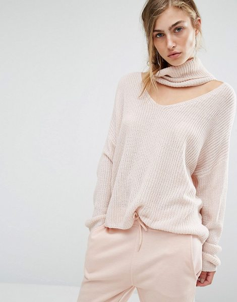 PARALLEL LINES Slouchy Sweater With Choker Roll Neck in beige - Sweater by Parallel Lines, Chunkt knit, High neckline,...