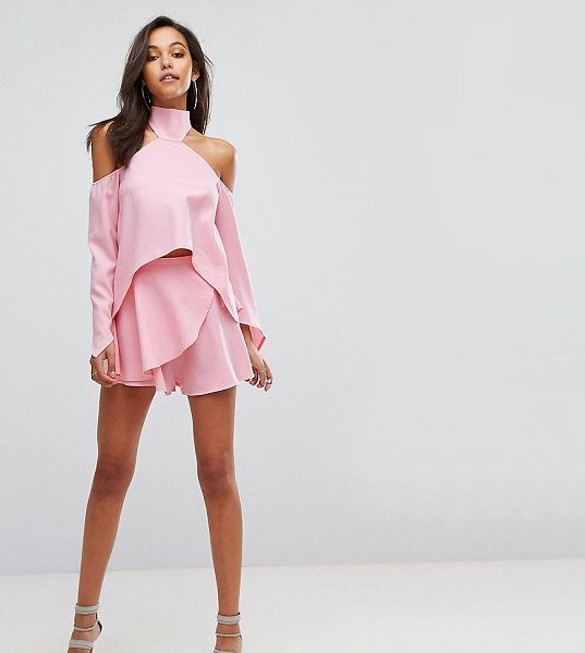 """Parallel Lines Wrap Front Skort in pink - """"""""Skort by Parallel Lines, Smooth woven fabric,..."""