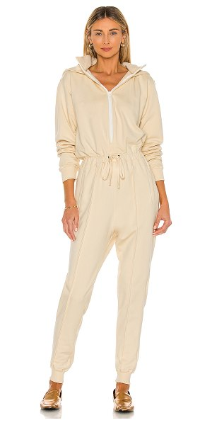 Parentezi french terry jumpsuit in nude