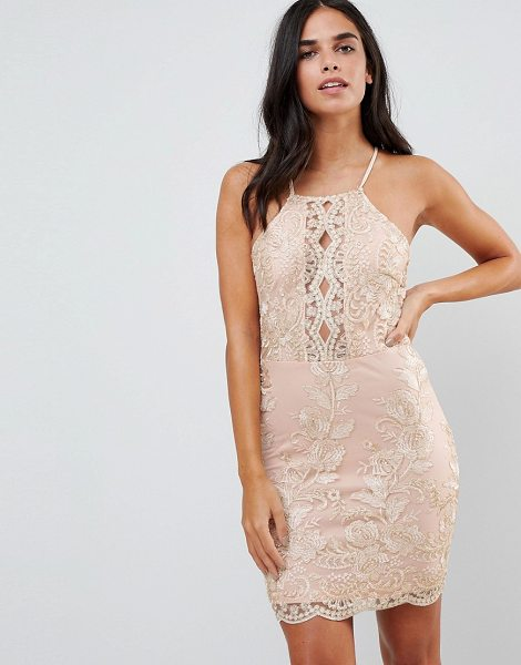 Parisian embroidered metallic dress in nudegold - Dress by Parisian, Metallic embroidery, You fancy, huh?...