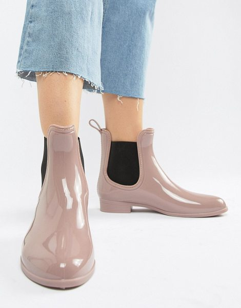 PARK LANE Chelsea Wellington Boot in beige - Boots by Park Lane, High-shine, patent finish, We re all...