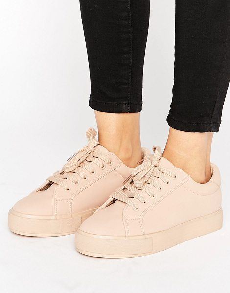Park Lane Color Drench Sneaker in beige - Shoes by Park Lane, Faux-leather upper, Lace-up...
