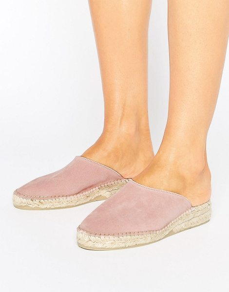 PARK LANE Suede Mule Espadrille Shoe in pink - Shoes by Park Lane, Suede upper, Slip-on style, Wedge...