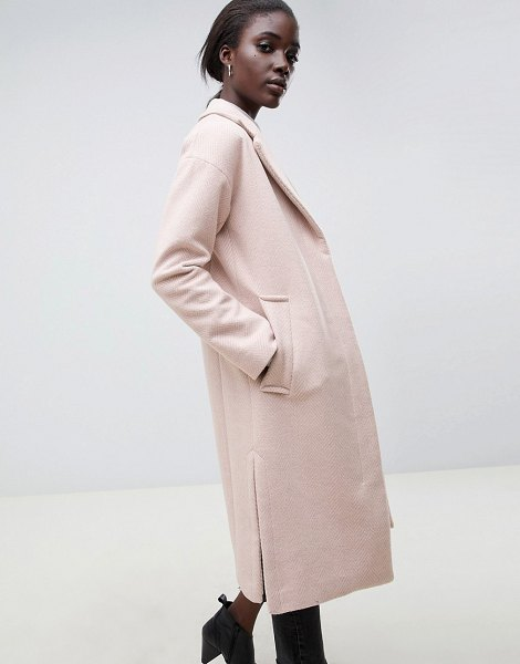 PARKA LONDON sommersby tailored duster coat in softpink