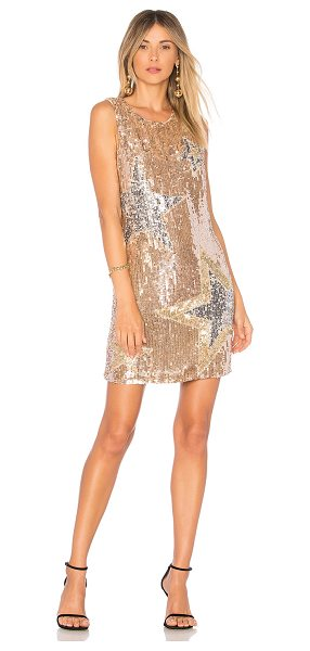 Parker Allegra Dress in metallic gold
