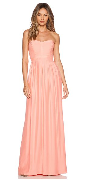 Parker Bayou Maxi Dress in peach - Self: 100% silkLining: 100% poly. Dry clean only....