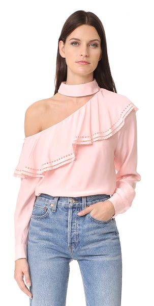 PARKER bellini blouse - A silk Parker blouse with one-shoulder styling and...