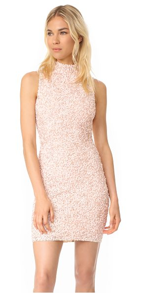 Parker black alessandra dress in blush - This formfitting Parker dress is covered with glamorous...