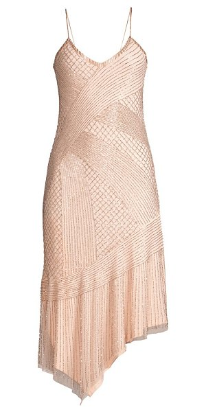 Parker Black athena beaded cocktail dress in ballerina
