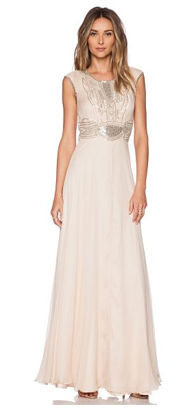Parker Black Cannes sequin maxi dress in peach - Self: 100% silkLining: 100% poly. Dry clean only. Fully...