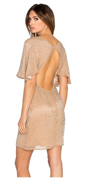 Parker Black Fiona embellished dress in tan - Self: 100% silkLining: 100% poly. Professional spot...