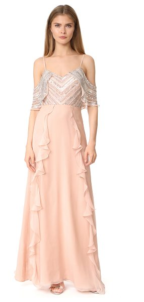 Parker black irene dress in blush - Iridescent and metallic sequins lend a glamorous touch...