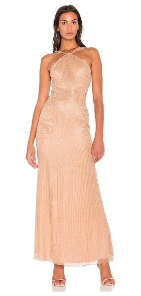 Parker Black Lara Gown in nude - Self: 100% silkLining: 100% poly. Dry clean only. Fully...