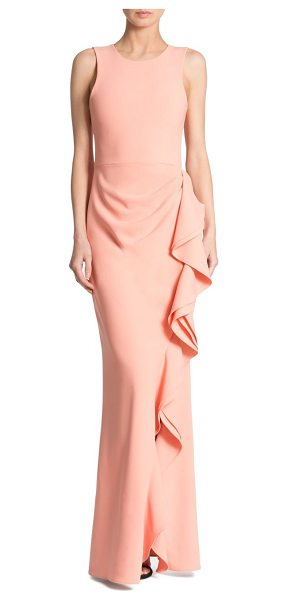 Parker Black madeline ruffled gown in peach - Cascading ruffles lend a feminine flair to this gown....