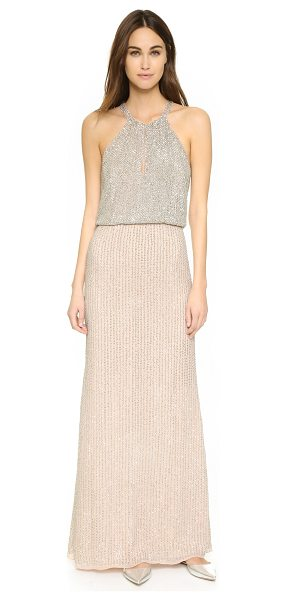 Parker Black marceline gown in blush - Rows of luxe sequins cover this elegant Parker gown. A...