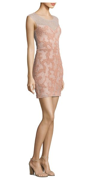 Parker Black montclair beaded mini dress in blush