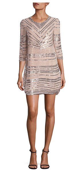 Parker Black petra sequin dress in blush - Gleaming sequin trims render sparkle to this dress....