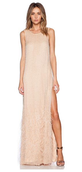 Parker Black Ryland sequin dress in peach - Silk blend. Dry clean only. Fully lined. Back zipper...