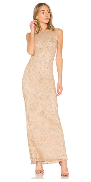 Parker Black Vicky Gown in metallic neutral - Self: 100% nylonLining: 100% poly. Spot clean only....
