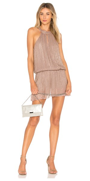 Parker Carlotta Dress in mauve - Poly blend. Dry clean only. Fully lined. Bead and sequin...