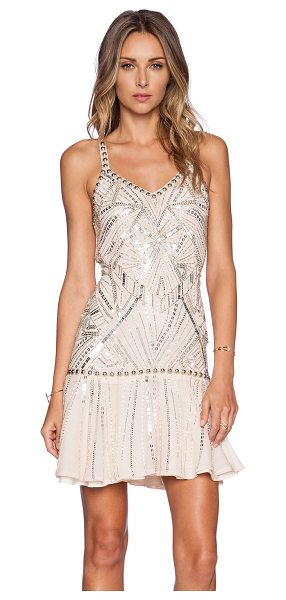 Parker Devany Sequin Dress in blush - Silk blend. Dry clean only. Fully lined. Beaded and...