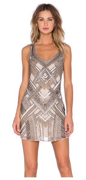 Parker Flow embellished dress in beige - Self: 100% rayonLining: 100% poly. Dry clean only. Fully...