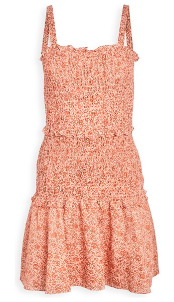 Parker illy dress in terracotta rue