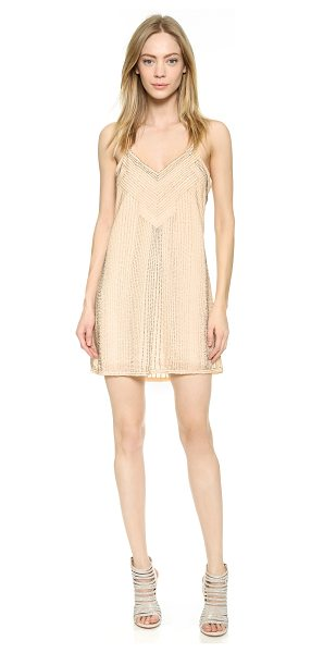 PARKER Izzy dress - This racer back Parker dress is rendered in beaded silk...